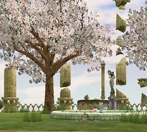 ラクシの噴水広場