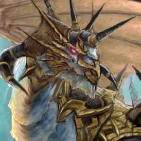 ホワイトドラゴンイラスト制作4:ドラゴンの描き込み(&ダンジョンシージ)