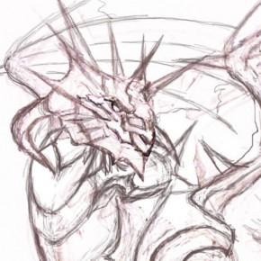 ラペルズイラストを描こう:ホワイトドラゴン